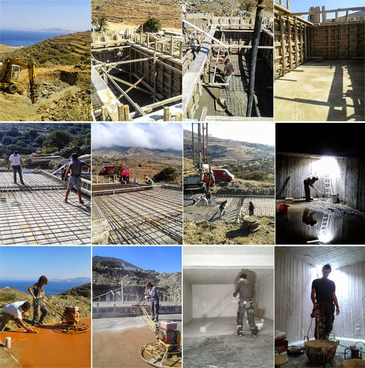 tinos ecolodge cistern start to finish