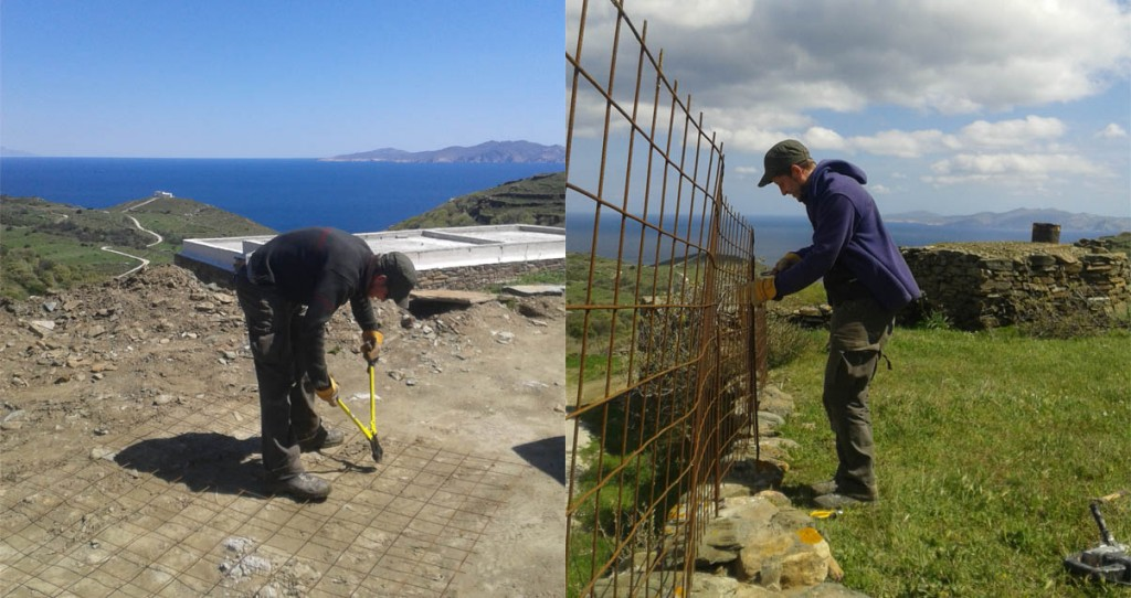 tinos eco lodge fencing