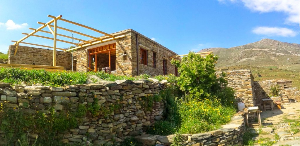 tinos ecolodge constructionspring